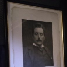Fotografía antigua: FOTO G. PUCCINI, PLATINOTIPIA 1912. ENMARCADA 31X25. Lote 262328975