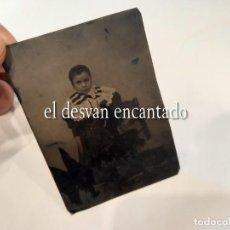 Fotografía antigua: ANTIGUO FERROTIPO FORMATO 8 X 6 CTMS. Lote 268736059