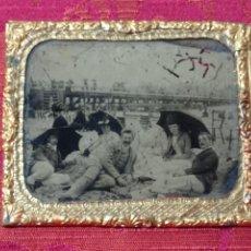 Fotografía antigua: ORIGINAL NO COPIA DAGUERROTIPO FERROTIPO FOTOGRAFÍA SOBRE CRISTAL S.XIX. Lote 272199498