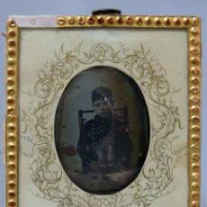 Fotografia antiga: DAGUERROTIPO RETRATO NIÑO NACIDO 1839 Y MUERTO 1854 EPIDEMIA CÓLERA VALENCIA ESCRITO TRASERA S XIX. Lote 287703788