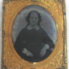 Fotografía antigua: 478-MUY ANTIGUO PORTA RETRATO CON AMBROTIPO,SIGLO XIX,OBJETO MUY INTERESANTE Y RARO. Lote 289736353