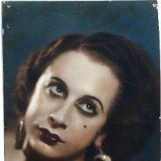 Fotografía antigua: FOTOGRAFÍA ARTÍSTICA ILUMINADA O COLOREADA DE UNA MUJER EN GRAN FORMATO - FOTO CARRERA - AÑOS 1930. Lote 27436020