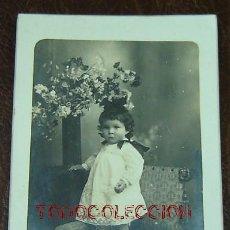 Fotografía antigua: FOTO ESTUDIO NIÑA-TARJETA POSTAL - BANÚS-BARCELONA. Lote 27307135