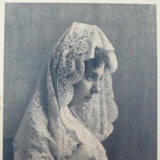 Fotografia antica: RETRATO DE DAMA CON MANTILLA. 1930'S APROX.SIN DATOS. TAMAÑO IMAGEN: 21 X 28,5 CM. Lote 19482827