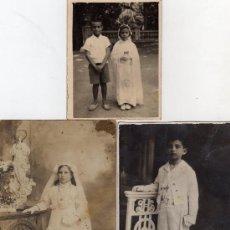 Old photograph - PRIMERA COMUNION-TRES FOTOS ANTIGUAS DE DISTINTAS EPOCAS. - 27449953