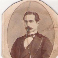 Fotografía antigua: CABALLERO DE FINALES DEL SIGLO IXX O PRINCIPIOS DEL XX - FORMA OVALADA Y MEDIDAS 6 X 7.5 - . Lote 11397483