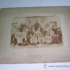Fotografía antigua: FOTOGRAFÍA CUERPO DE CARABINEROS . COLEGIO ESCORIAL 1902 . FOT. J. DAVID . PARIS . 23X18. Lote 24768053