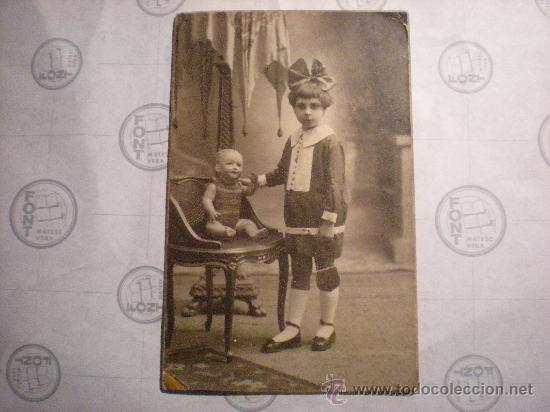 FOTOGRAFIA AÑO 1924 NIÑA CON MUÑECA (Fotografía - Artística)