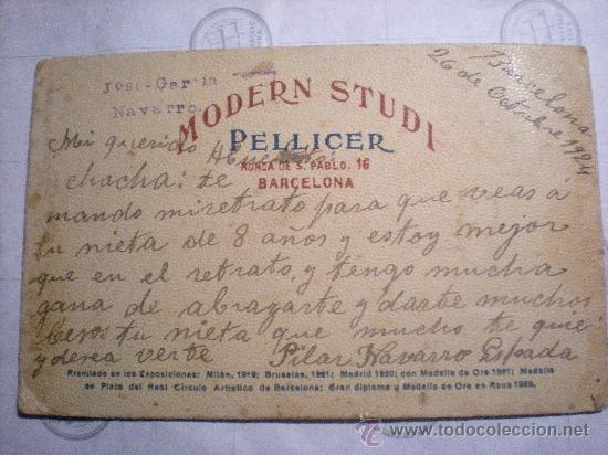 Fotografía antigua: FOTOGRAFIA AÑO 1924 NIÑA CON MUÑECA - Foto 2 - 21125570
