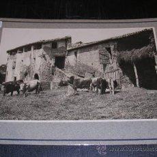Fotografía antigua: MONTAGUT 1918 LA GARROTXA,MASIA ,TRILLANDO,TAMPON ARXIU MAS,25X20 CM. VER FOTOS,. Lote 14185461
