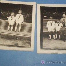 Fotografía antigua: 2 FOTOS MINUTERO SAN SEBASTIAN, 1922 MONTE IGUELDO. Lote 27091574