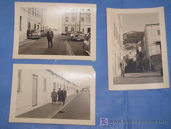 LOTE 3 FOTOS ALGECIRAS Y GIBRALTAR 1953 TURISTAS ESPAÑOLES (Fotografía - Artística)