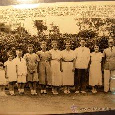 Fotografía antigua: FOTOGRAFIA ANTIGUA DE LA FAMILIA KENNEDY DE 1934 EN BOSTON. Lote 16305945