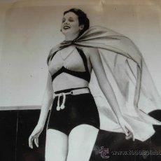 Fotografía antigua: FOTOGRAFIA DE ÉPOCA DE MARY ASTOR EN UNA PLAYA CALIFORNIANA - AÑO 1936. Lote 23138142