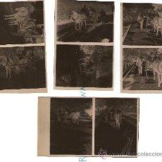 Fotografía antigua: CUATRO ANTIGUOS NEGATIVOS CON OCHO FOTOS DE GRAN CALIDAD. PERSONAS EN CARRO. Lote 20081004