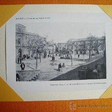 Fotografía antigua: 1910C. - LINARES (JAÉN). PLAZA DE LA CONSTITUCIÓN. FOTO-LÁMINA ORIGINAL. Lote 26492506