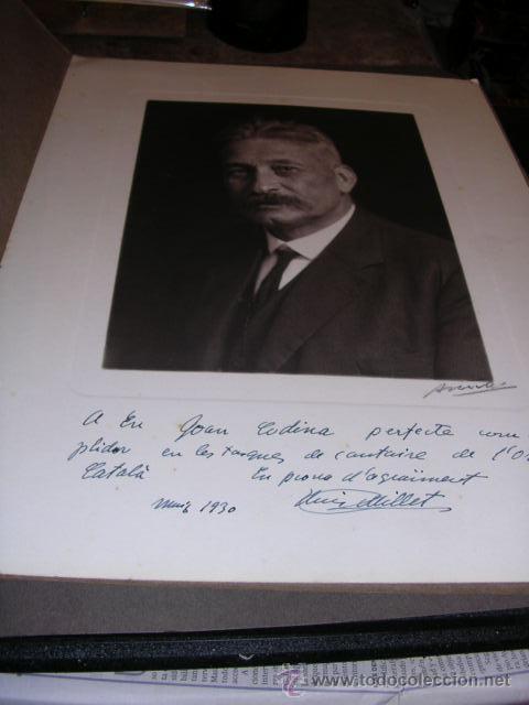 FOTOGRAFIA DE EPOCA CON DEDICATORIA AUTOGRAFA LLUIS MILLET,1930-37X28 CM. - (Fotografía - Artística)