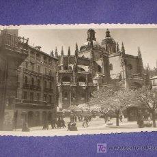 Fotografía antigua: FOTO DE SEGOVIA. CATEDRAL DESDE LA PLAZA DE FRANCO, EN DÍA NEVADO.. Lote 22212180