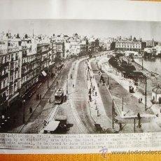 Fotografía antigua: 1947-EXPLOSIÓN EN CÁDIZ. FOTO ORIGINAL. GRANDE 25X20 CM. Lote 26353947