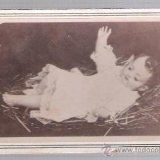 Fotografía antigua: NIÑO JESÚS. ALBUMINA (6,5X10,5) SOBRE CARTÓN. SIGLO XIX.. Lote 23371562