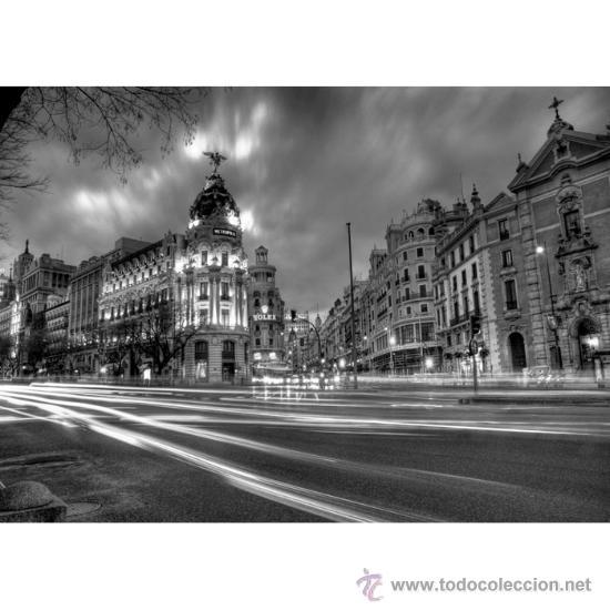 madrid: gran via en 2010. fotografia en cuadro - Comprar Fotografía ...