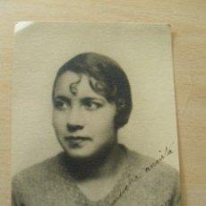 Fotografía antigua: FOTOGRAFIA CON DEDICATORIA FIRMADA POR DOLORES PEREZ. 1929. Lote 26729363