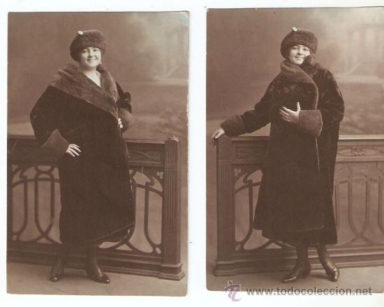 lujo muy agradable tienda oficial 2 Fotos de Mujer con Bonito modelo de abrigo, gorro y zapatos. Moda. años  20. -Vell i Bell