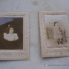 Fotografía antigua: FOTOGRAFIA. CLICHE ANGEL MARTINEZ FOTÓGRAFO. . LA UNIÓN MURCIA. DOS NIÑAS CARTAGENA. Lote 27342250