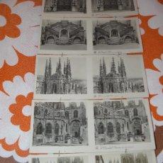 Fotografía antigua: 15 DOBLE MINIFOTOGRAFIAS ANTIGUAS BURGOS 1ª SERIE. Lote 27655614