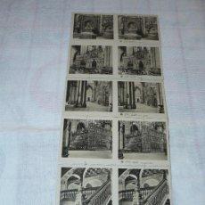Fotografía antigua: 15 DOBLE MINIFOTOGRAFIAS ANTIGUAS TOLEDO 1ª SERIE. Lote 27786086