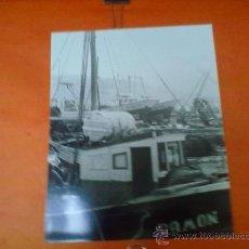 Fotografía antigua: ANTIGUA FOTOGRAFIA DEL PUERTO DE LAREDO. BLANCO Y NEGRO, 24 X 30 CM. ORIGINAL. Lote 28221496