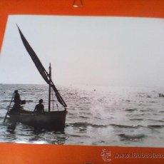 Fotografía antigua: ANTIGUA FOTOGRAFIA PUESTA DE SOL... BLANCO Y NEGRO . ORIGINAL. 24 X 30 CM.. Lote 28226311