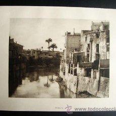 Fotografía antigua: ORIHUELA - 1 LAMINA DOBLE CARA VISTA GENERAL - - AÑO 1922. Lote 28263117
