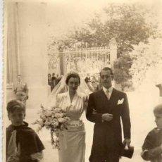 Fotografía antigua: ANTIGUA FOTOGRAFIA - RECIEN CASADOS - FOTO FRANCISCO - MADRID - MEDIDAS 17 X 11 CM.. Lote 29426856