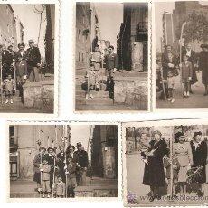 Fotografía antigua: LOTE 5 FOTOGRAFIAS SEMANA SANTA BARCELONA 1948-50. Lote 29476313