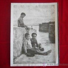 Fotografía antigua: GRUPO DE NIÑOS - CONJUNTO FOTOGRÁFICO DE ÉPOCA - ANTIGUO -. Lote 30381736
