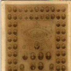 Fotografía antigua: FOTOGRAFIA TAMAÑO GABINETE, ORLA UNIVERSIDAD LITERARIA DE VALLADOLID. FACULTA DE DERECHO. 1884-85. Lote 30534865