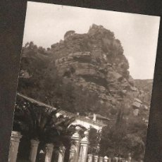 Fotografía antigua: EL CASTELL DE L´AMPRUNYA. VISTA DES DE LA CARRETERA. ANY 1950. Lote 30917114
