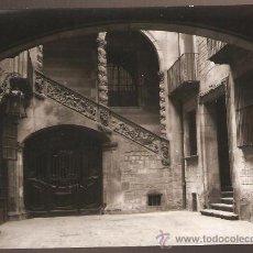 Fotografía antigua: BARCELONA. CARRER MONTCADA. PATI CASA DALMASES. ANY 1927. Lote 31143645