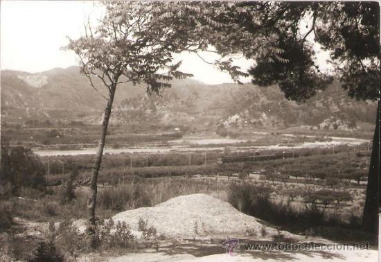 PANORAMA VENINT DE CASTELLBISBAL, AMB TREN. ANY 1962 (Fotografía - Artística)