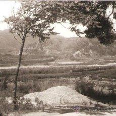 Fotografía antigua: PANORAMA VENINT DE CASTELLBISBAL, AMB TREN. ANY 1962. Lote 31295879