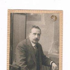 Fotografía antigua: VALENCIA FOTOGRAFO GROLLO TARJETA POSTAL CABALLERO. Lote 31306924