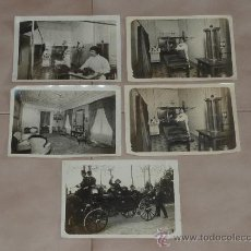 Fotografía antigua: COLECCION DE 5 FOTOGRAFIAS ORIGINALES DE CENTRO MEDICO. DE FAMOSO MERLETTI, DE BARCELONA.. Lote 31846263