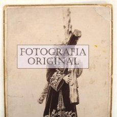 Fotografía antigua: JESÚS NAZARENO DE LA ROLDANA EN SU TRONO, SISANTE, CUENCA, FOTOGRAFIA APROXIMADA DE 1898 - (RVL). Lote 31726459