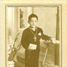Fotografía antigua: FOTOGRAFIA NIÑO - PRIMERA COMUNION. Lote 32170766