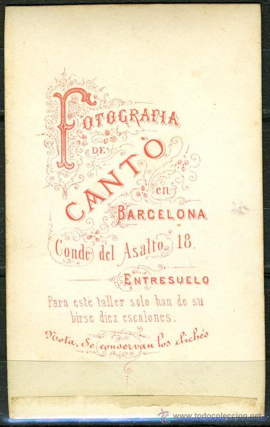 Fotografía antigua: Fotografia CANTO BARCELONA - CABALLERO DE EPOCA - Foto 2 - 32170897