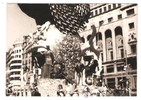 VALENCIA. DETALLE FALLA PLAZA DEL CAUDILLO AÑO 1976 (Fotografía - Artística)
