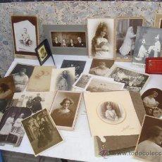 Fotografía antigua: 28 FOTOGRAFIAS ANTIGUAS Y 2 ALBUN PEQUEÑOS. Lote 33681238