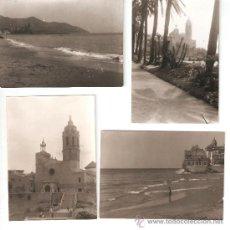 Fotografía antigua: CUATRO FOTOS DE SITGES. AÑOS 1956 A 1964. Lote 33772826