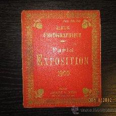Fotografía antigua: ALBUM FOTOGRAFICO PARIS EXPO 1900. Lote 34128264